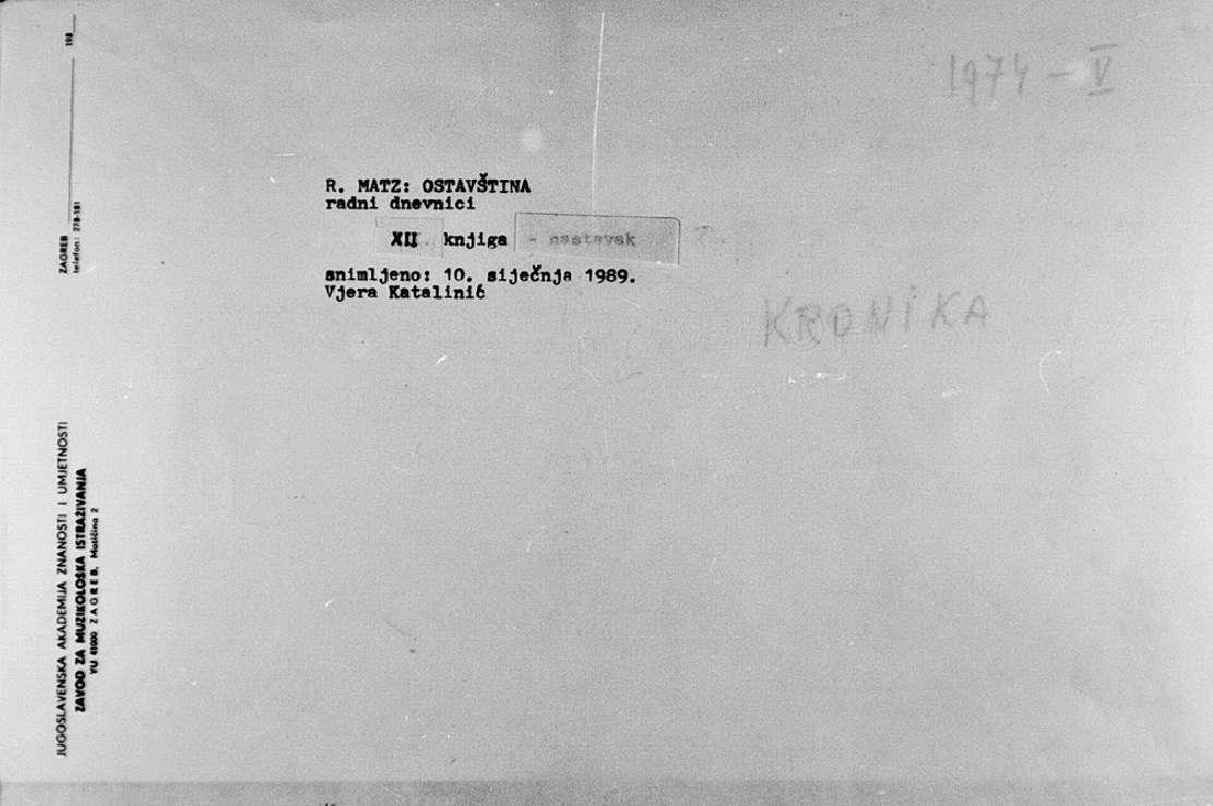 Kronika 1974-1976 / R. Matz