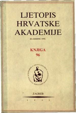1992. Knj.  96 : Ljetopis