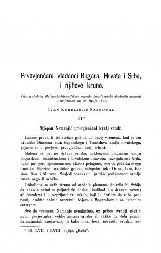 Prvovjenčani vladaoci Bugrara, Hrvata i Srba, i njihove krune : RAD