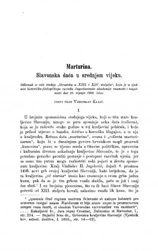 Marturina. Slavonska daća u srednjem vijeku