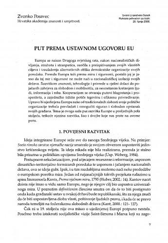 Put prema ustavnom ugovoru EU