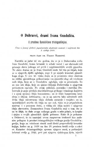 O Dubravci, drami Ivana Gundulića