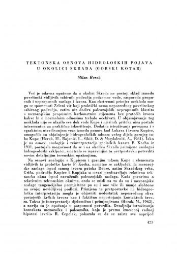 Tektonska osnova hidroloških pojava u okolici Skrada (Gorski kotar) / M. Herak