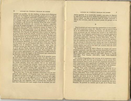 La culture littéraire des écrivains Croates avant Šenoa