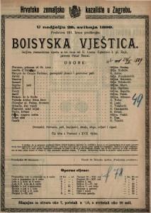 Boisyska vještica šaljiva romantična opera u tri čina / Uglazbio Ivan pl. Zajc