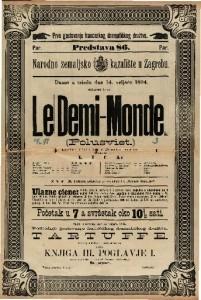 Le Demi-Monde (Polusviet) Komedija u 5 čina / od Aleksandera Dumas sina