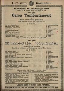 Baron Tamburlanović Pelda nerazumnoga portošlivca. Stara kajkavska vesela igra u jednom činu. / Nepoznati autor