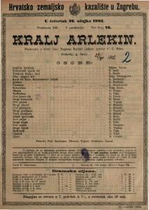 Kralj Arlekin maskerata u četiri čina / napisao Rudolf Lothar