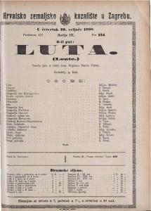 Luta vesela igra u četiri čina / napisao Pierre Veber