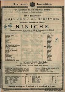 Niniche Vaudeville-Operette en 3 actes / Musique de M. A. Boullard