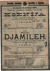 Djamileh komična opera u jednom činu / uglazbio Georges Bizet