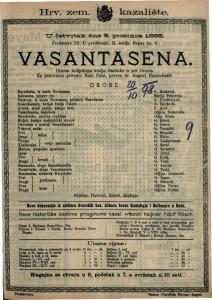 Vasantasena Drama indijskoga kralja Sudrake u pet činova / Za pozornicu priredio Emil Pohl