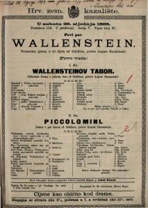 Wallenstein Dramatska pjesan u tri dijela / od Schillera