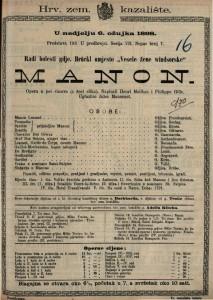 Manon Opera u pet činova (a šest slika) / Uglazbio Jules Massanet