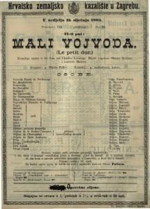 Mali vojvoda Komična opera u tri čina / od Charles Lecocqua