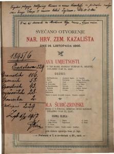 Svečano otvorenje Nar. hrv. zem. kazališta