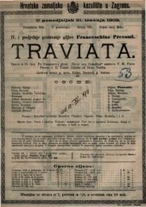 Traviata Glazba od Gius. Verdia / sastavio F. M. Piave