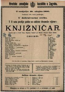 Knjižničar vesela igra u četiri čina / napisao Gustav pl. Mozer