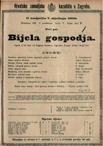 Bijela gospodja opera u tri čina od / uglazbio Franjo Adrien Boildieu
