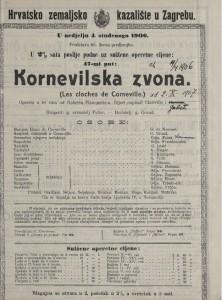 Kornevilska zvona opereta u tri čina / uglazbio Robert Planquette-a