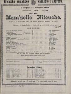 Mam'zelle Nitouche : opereta u tri čina (četiri slike) / od Hervea