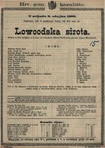 Lowoodska sirota : Gluma u dva razdjela, a 4 čina / od Charlotte Birch-Pfeifferove
