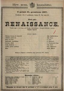 Renaissance vesela igra u tri čina / od Franje Schönthana  i  Koppel-Ellfelda