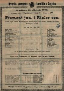 Fromont jun i Risler sen. drama u pet činova / napisali Alfons Daudet i Adolf Belot