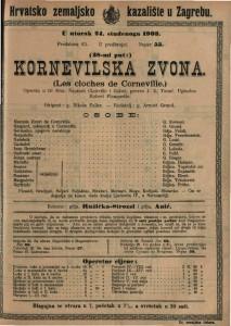 Kornevilska zvona opereta u tri čina / uglazbio Robert Planquette