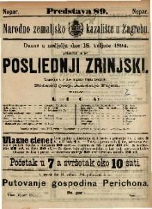 Posliednji Zrinjski Trageija u 5 čina / napisao Higin Dragošić