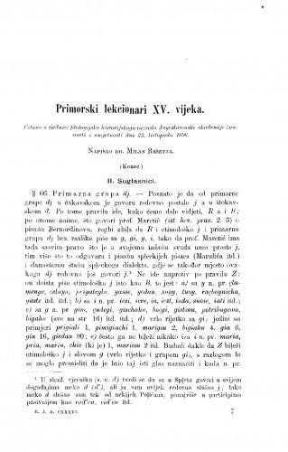Primorski lekcionari XV. vijeka
