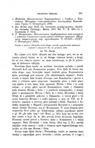 K. Grot i T. Florinskij o Konstantinu bagrenorodnom : [književna obznana] : RAD