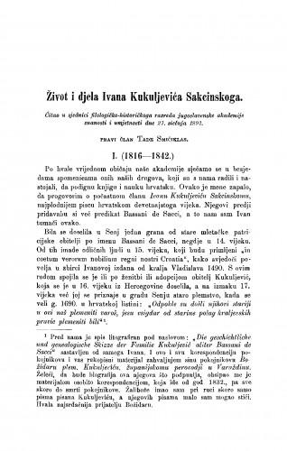 Život i djelo Ivana Kuljevića Sakcinskoga