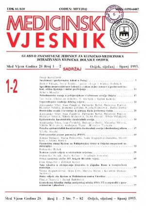 God. 25, br. 1-2(1993) : Medicinski vjesnik