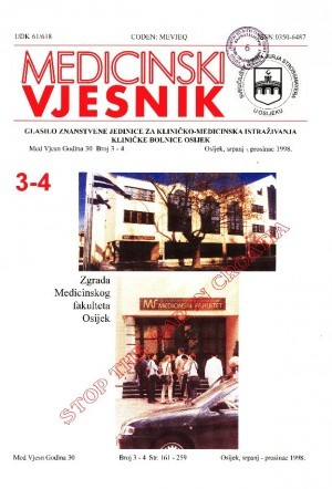 God. 30, br. 3-4(1998) : Medicinski vjesnik