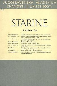 Knj. 54(1969) : Starine