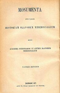 Knj. 2 : Od godine 1336 do 1347 : Monumenta spectantia historiam Slavorum meridionalium
