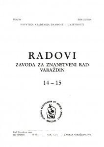 Knj. 14/15 (2004) : Radovi Zavoda za znanstveni rad Varaždin