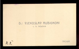 Dr Vjekoslav Rubignoni c. k. bilježnik