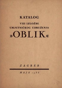 Katalog VIII izložbe umjetničkog udruženja Oblik