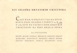 XIV. izložba hrvatskih umjetnika