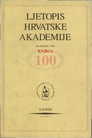 1996. Knj. 100 : Ljetopis