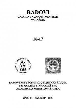 Knj. 16/17 (2006) : Radovi Zavoda za znanstveni rad Varaždin