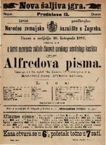 Alfredova pisma Šaljiva igra u 4 čina / napisali Oskar Klaussman i F. Brentano