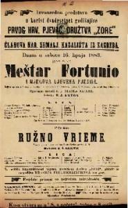 Meštar Fortunio i njegova ljuvena pjesma Šaljiva opereta u 1 činu / Glasba od Jaq. Offenbacha