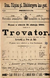 Trovator opera u 4 čina / glasba od Josipa Verdia