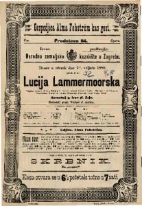 Lucia Lammermoorska Tragička opera u 3 čina / Glasba od Caetana Donizettia