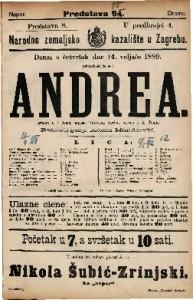 Andrea Igrokaz u 5 činah / napisao Viktorien Sardou