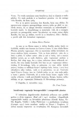 Istraživanje vegetacije hercegovačkih i crnogorskih planina / I. Horvat
