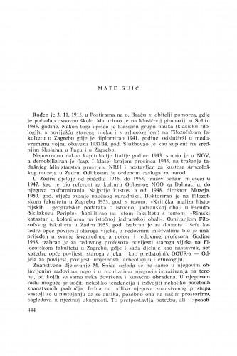 Mate Suić : [biografije novih članova Akademije]